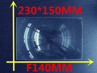 8.9 Inch lcd panel DIY projection Fresnel Lens rectangular  230*150MM  Focal length 140mm Thicknes 2MM Lines from 0.3mm