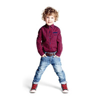 2014 New Autumn Fashion Plaid Boys Clothes Infantil Baby Boy Clothing Sets ( Boys Shirts Long Sleeve + Jeans ) Casual Suit 1452