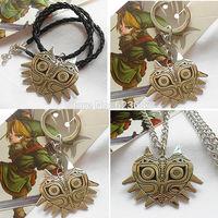 20pcs/lot The legend of zelda owl face shield pendant necklace,KX41x20,Wholesale zone