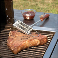 Personality Steak Meat BBQ Meat Branding iron with changeable letters Barbecue BBQ Tool Changeable 55 Letters QB871734