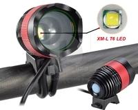 New 1800 Lumen CREE XML T6 LED Bicycle Bike Light Rechargable Headlight Headlamp 016128 Free Shipping
