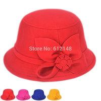 5pcs/lot New Hot Autumn Winter Baby Girls Beanies Baby Flower Skullies Wool Hats Kids for 3-8T