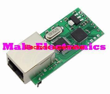 Free shipping 2pcs/lot Serial Port Server Module Ethernet Network To RS232 TCPIP RJ45 To TTL Seckill ENC28J60(China (Mainland))