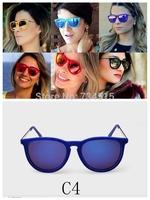 Hot New erika velvet sunglasses Round fashion woman retro brand rb 4171 oculos de sol Sun Glasses Original packaging