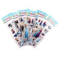 20PCS/SET Cartoon Frozen Stickers Favors Frozen Party Supplies Favors ELSA ANNA Princess Classic Toys for Children Baby Toy