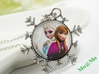 New Frozen children's necklace high quality Elsa princess Anna Pendant handmade christmas gift hot