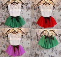 2015 new arrive retail children girls fashion summer top+ skirt 2pcs set children cloth kids children clothing set girls set