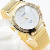 New Casual Luxury Womens Stainless Steel Band Quartz Analog Wrist WatchFree Shipping