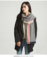 2014 Grey Fashion Women's Long Fringed Wool Scarf Wraps Shawl Stole Soft winter Scarves 210X80CM