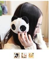 5 pieces cute soft cotton Women Winter warm panda rabbit with bow dots Earmuffs Christmas Warmer Headband headset