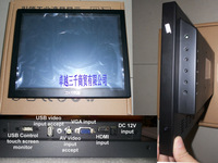 2014 Sale Special Offer Stock hdmi Kiosk Great Price 12 Inch Touch Screen Monitor for Machine,withUSB,HDMI,AV,VGA input USBtouch