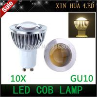 10pcs High quality 85-265V 9W 12W 15W GU10 COB LED lamp light GU 10 led  bulbs Spotlight White/Warm white led lighting