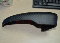 Real Carbon Fiber Side Mirror Cover For 2009-2015 Volkswagen Passat Full Replacement Matte Finish