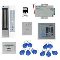 Full Complete Kit Access Controller 125KHz RFID ID Card Reader Door Access Control System+ Electric Magnetic Lock+Door Bell