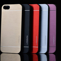20pcs/lot 2014 New Arrival 5 Colors Plastic/ Aluminum Metal Brushed Hard Case For iPhone5/5S With Free Shipping