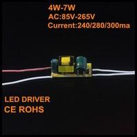 100pcs/lot 4-7w LED Inside Driver for E27/GU10/E14/B22 and more Lamp Driver, Input 85-265V, 240/280/300mA / 12-25V Output