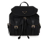Free Shipping 6 colors women's brand designer bag nylon genuine leather travel backpack girls student preppy style shoulder bags