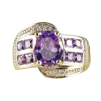 Fashion Original Amethyt 925 Silver Ring Size 9 Jewelry For Women Free Shipping Wholesale Christmas
