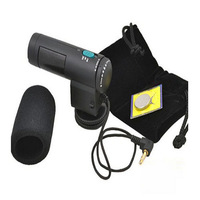 Free Shipping    Black External Stereo Microphone for Canon EOS 5D Mark II 7D 60D 600D T3i 550D
