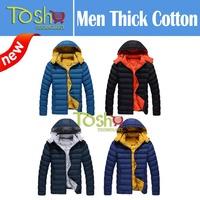 2014 New Parka Korean Fashion Winter Jacket Men Warm Thick Down-jacket Cotton Jacket Free Shipping