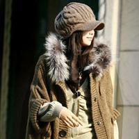 Korean female winter hat wool hat female models wool knit winter hat ear cap Korea