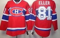 # 81 Lars Eller Jersey, Montreal Canadiens Eller Jersey, Eller hockey Jersey, size M-XXXL mixed order free shipping