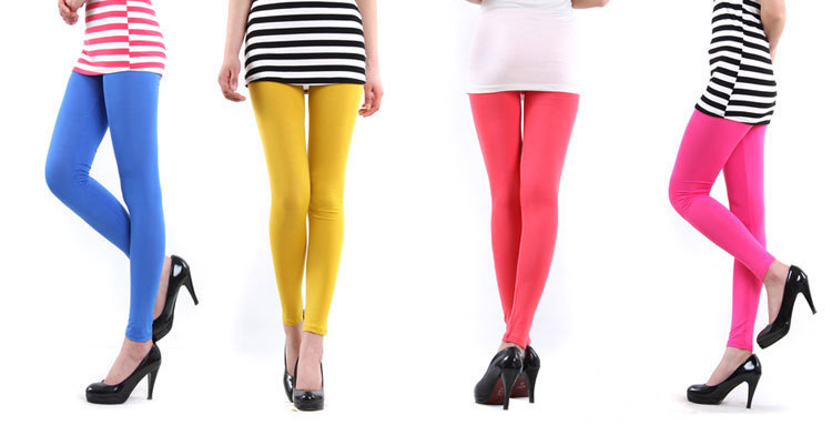Color Cotton Leggings Colorful Cotton Leggings
