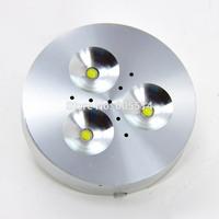 [Seven Neon]free shipping high quality 220V 3*1W aluminum super bright warm white/white LED ceiling light for home lighting