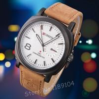 2014 New Fashion Curren Watches Men Luxury Leather Strap Business Clock Men Military Quartz Watch Relogio Masculino