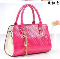 2014 Korean version of the new shiny crocodile handbag stereotypes bag serpentine handbag shoulder messenger bag OL career