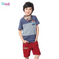 New 2014 kids t-shirts, cotton short sleeve t shirts, slim stripe cartoon t-shirt, 1331554 two color kids t shirt, nova kids