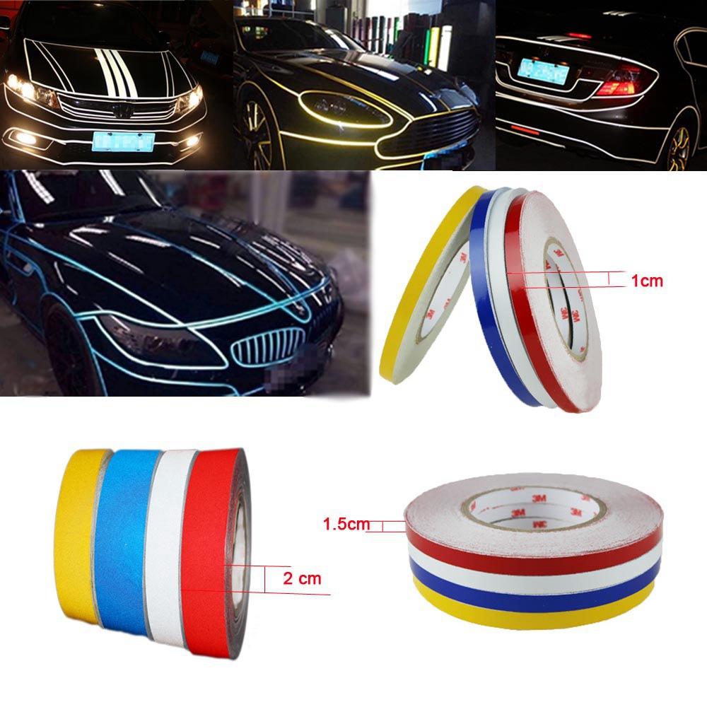 10MM*46M Luminous 3M reflective tape warning reflective car stickers Trims Reflective Adhesive glue sticker Tape(China (Mainland))