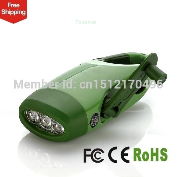 Mini led flashlight Wind Crank Multifunction emergency light Emergency mobile phone(China (Mainland))
