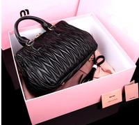 M Original 1:1 High Quality Famous Brand Women Handbags Top Designer Genuine Leather Sexy Black Ladies Luxury Shoulder Bags