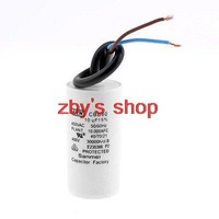 CBB60 Non Polar Wire Lead Cylindrical Motor Run Capacitor 450VAC 10uF