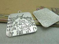 5Pcs Beetle Pattern Charms Pendant Antiuqe Silver Tone DIY Jewelry Making