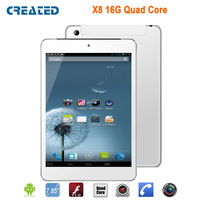 CREATED X8 7.9 inch MTK8389-1.2GHZ Quad-Core Android 4.2 Tablet PC 3G Phone Call GPS Dual  Camera WI-FI Bluetooth FS HDMI DHL