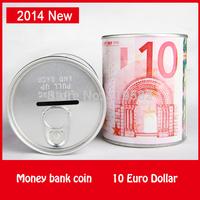 10 Euro German Dollar Design Money Coin Bank Storage Aluminum Metal Pen Holder Functions Money Bank