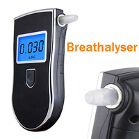 New Professional Police Digital Breath Alcohol Tester Battery Breathalyzer Dropship Parking Car Detector Gadget Gadgets Meter