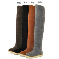 2015 Rushed Medium(b,m) Autumn Boots New Women Boots The Trend of Matte Cashmere Thick Warm Temperament Barreled Knee Cotton