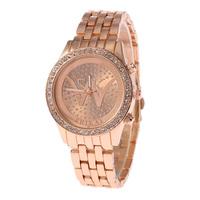 2015 Luxury Watch Brand New W Steel Band Quartz Watches Women Fashion Watches Free Shipping