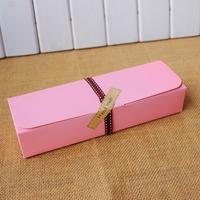 Pink Macaron box moon cake biscuit box 30pcs/lot