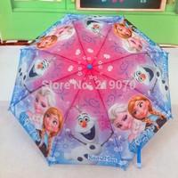 2014 Sale New Fishing Paraguas Mujer Frozen Student Three-folding for Kids Princess Elsa & Anna Olaf Folding 60pcs/lot Dhl free