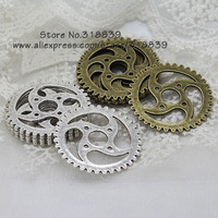 Free shipping (12 pieces/lot) 40mm Vintage Style Metal Alloy Big Gear Charms 7801
