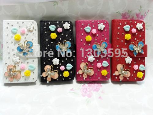 for SAMSUNG INFUSE 4G i997 Case a variety of fashion handmade rhinestone PU Flip 3D phone holster(China (Mainland))