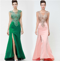 2014 new high-end banquet evening dress long section Slim fishtail dress trailing