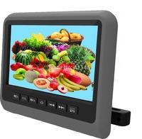 one pair 9''car pillow headrest monitor with digital panel games IR FM USB SD