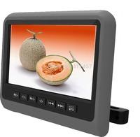 one pair 9''headrest car dvd player with digital panel games IR FM USB SD