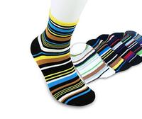 5 Pairs/lot HOT SALE Free Shipping Autumn Cotton Elegant Stripe Multicolour Socks Men socks