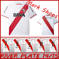 New arrival 14/15 river plate home white Fans version best quality soccer jersey,2014 2015 river plate  soccer football jerseys